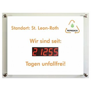 Days without accident LED 45 mm Indoor, incl. Logoprint