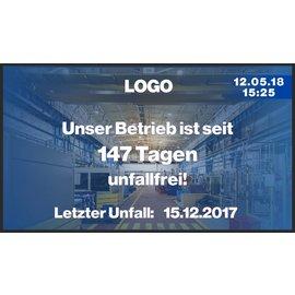 """GA-LCD Monitor Set 27"""" Unfallfreie Tage"""