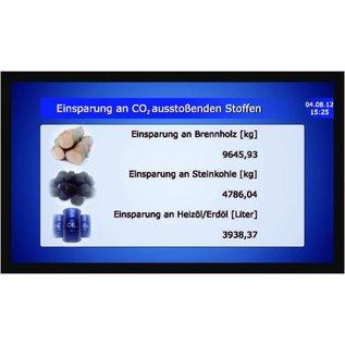 """GA-LCD Monitor Set 65"""", 4K,   24/7 monitor 500 cd/m2          Direkt-LAN von Solarlog, SMA,  Fronius Symo, Galvo, Agilo direkt LAN -"""