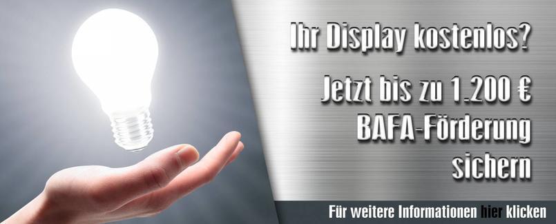 BAFA Display Förderung Infos