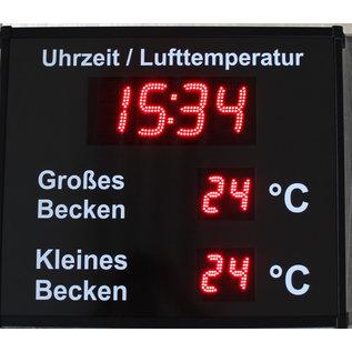 RiCo Pool display time °C °C  °C