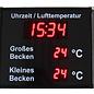 RiCo Schwimmbadanzeige Uhr °C  °C  °C
