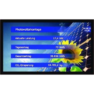 "GA-LCD Monitor Set 32"" 16/7 use, Direkt-LAN von Solarlog, Webbox, Clustercontroller, Fronius Symo, Galvo, Agilo"