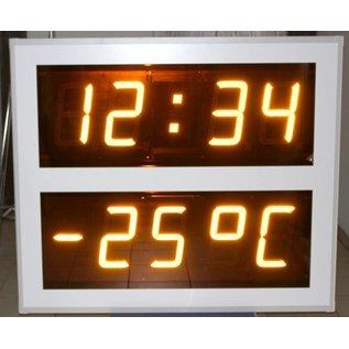 Uhr und °C - 260 mm