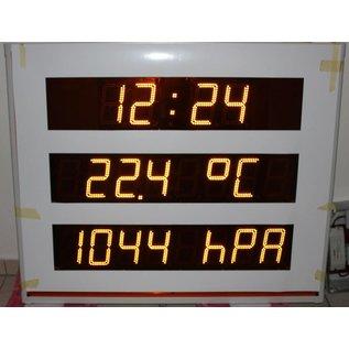 Uhr °C Druck %rF