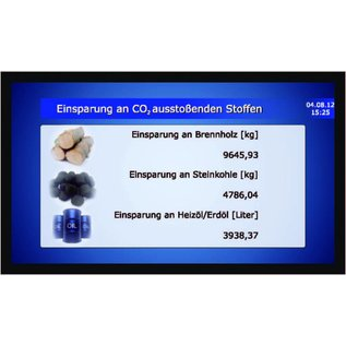 """Outside GA-LCD monitor Set 32 """" with housing, ventilation  24/7 use"""