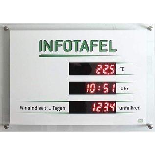 GA-1200 - Infotafel Unfallfrei Tage, Temperatur, Uhrzeit