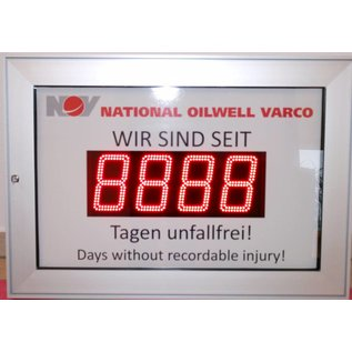 GA-11351vi days without an accident, vitrine alu silver, AutoBright und DirectSun