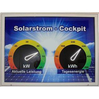 GA-Solarstrom Cockpit 2x automatische, beleuchtete LED Zeiger 29 cm lang
