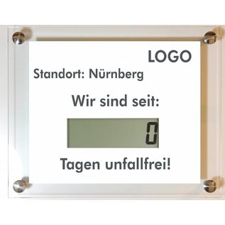 Unfallfreie Tage LCD 50 mm