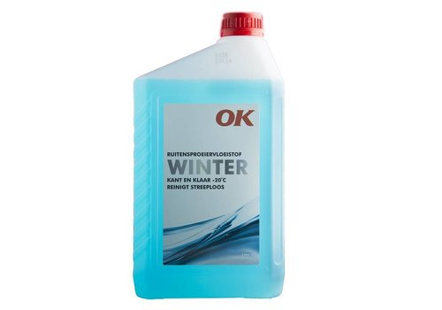 OK Ruitensproeiervloeistof Winter (Kant en Klaar), 2 lt