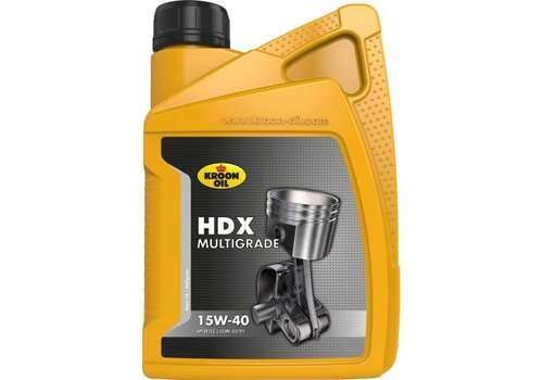 Kroon Oil HDX 15W-40 - Motorolie, 1 lt