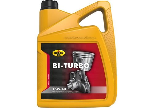 Kroon Oil Bi-Turbo 15W-40 - Motorolie, 5 lt