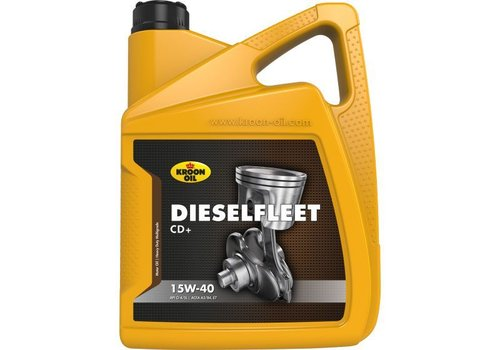 Kroon Oil Dieselfleet CD+ 15W-40 - Heavy Duty Motorolie, 5 lt