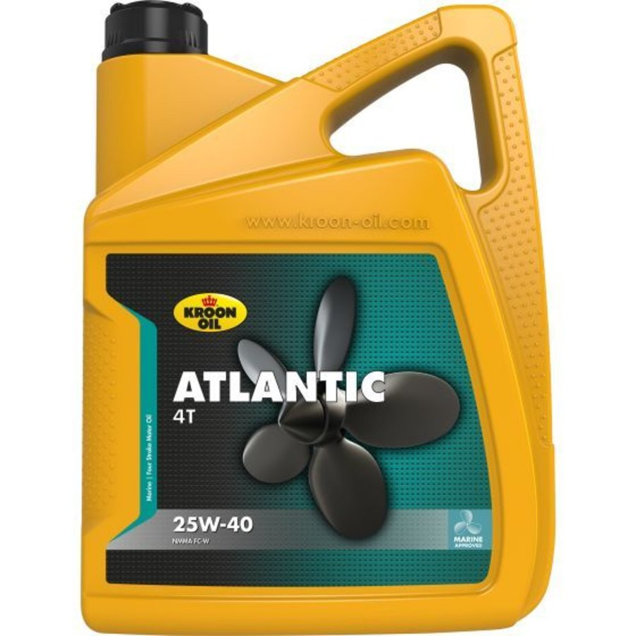 Atlantic 4T 25W-40 - Buitenboord- en inboard motorolie, 4 x 5 lt-2