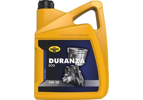Kroon Oil Duranza ECO 5W-20 - Motorolie, 5 lt
