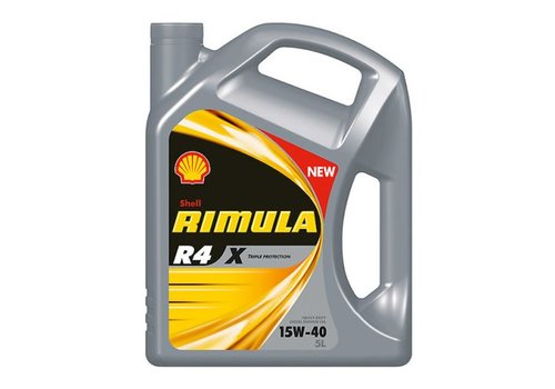 Shell Rimula R4 X 15W-40 - Heavy Duty Engine Oil, 5 lt