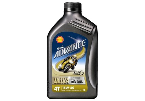 Shell Advance 4T Ultra 15W-50 - Motorfietsolie, 1 lt