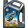Shell Advance 4T Ultra 15W-50 - Motorfietsolie, 4 lt