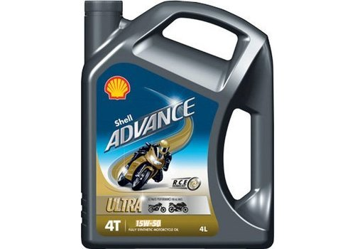 Shell Advance 4T Ultra 15W-50 - Motorfietsolie, 4 lt