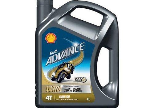Shell Advance 4T Ultra 15W-50 - Motorolie, 4 lt