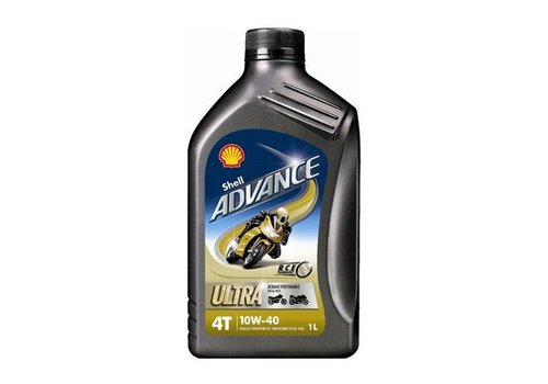 Shell Advance 4T Ultra 10W-40 - Motorfietsolie, 1 lt
