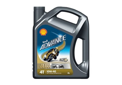 Shell Advance 4T Ultra 10W-40 - Motorfietsolie, 4 lt