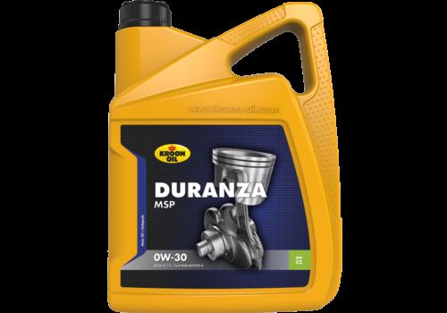 Kroon Oil Duranza MSP 0W-30 - Motorolie, 5 lt