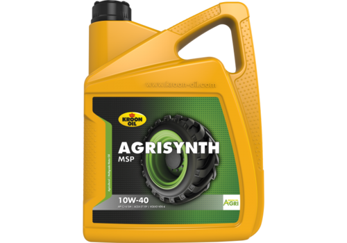 Kroon Oil Agrisynth MSP 10W-40 - Heavy Duty Tractorolie, 5 lt