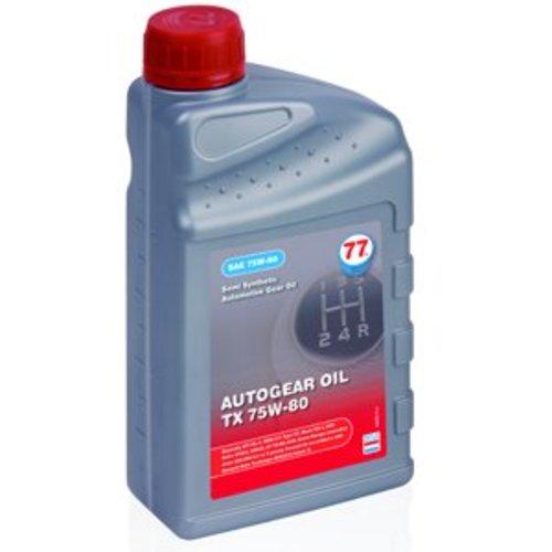 77 Lubricants TX 75W-80 - Versnellingsbakolie, 1 lt (OUTLET)