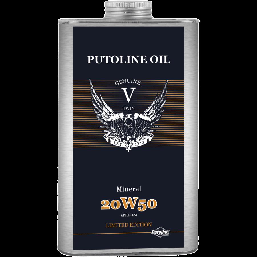 Genuine V-Twin Mineral 20W-50 - Motorfietsolie, 6 x 1 lt-2