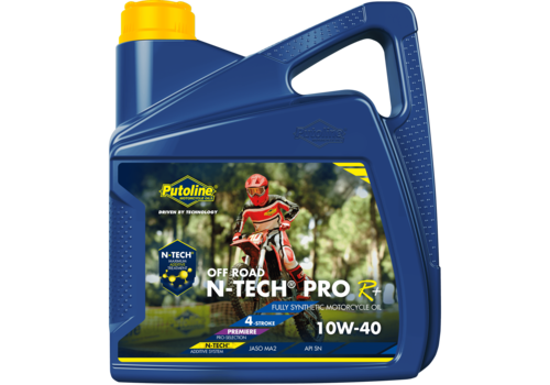 Putoline N-Tech® Pro R+ Off Road 10W-40 - Motorfietsolie, 4 lt