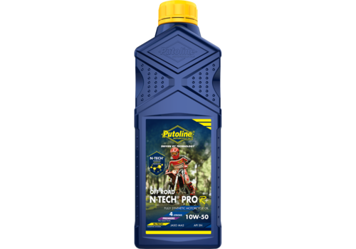 Putoline N-Tech® Pro R+ Off Road 10W-50 - Motorfietsolie, 1 lt