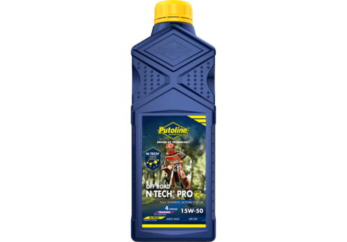Putoline N-Tech® Pro R+ Off Road 15W-50 - Motorfietsolie, 1 lt