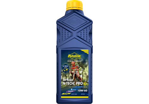 Putoline N-Tech® Pro R+ Off Road 10W-60 - Motorfietsolie, 1 lt