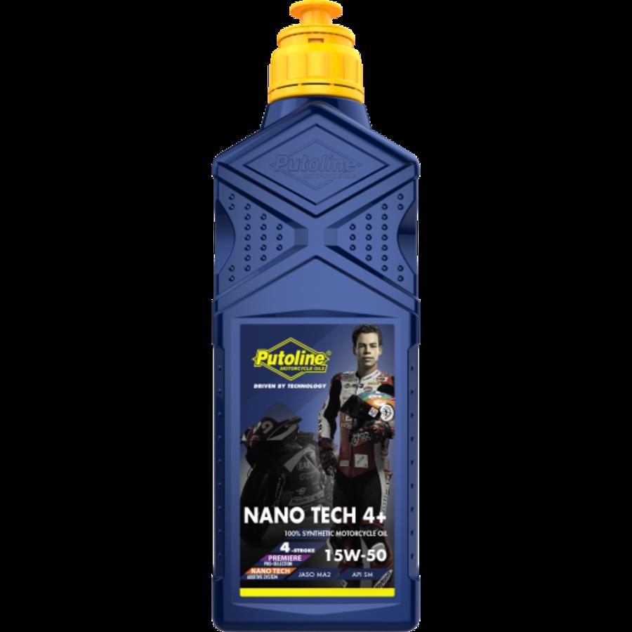 Nano Tech 4+ 15W-50 - Motorfietsolie, 1 lt (OUTLET)-1