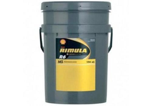 Shell Rimula R6 MS 10W-40 - Heavy Duty Engine Oil, 20 lt