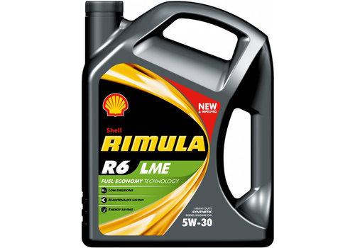 Shell Rimula R6 LME 5W-30 - Heavy Duty Engine Oil, 5 lt