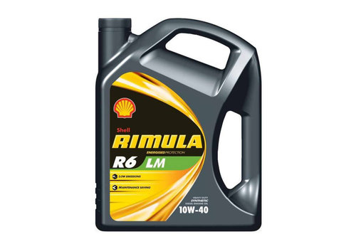 Shell Rimula R6 LM 10W-40 - Heavy Duty Engine Oil, 5 lt