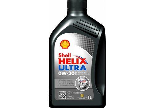 Shell Helix Ultra ECT 0W-30 - Motorolie, 1 lt