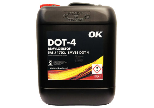 OK Remvloeistof DOT 4, 10 lt