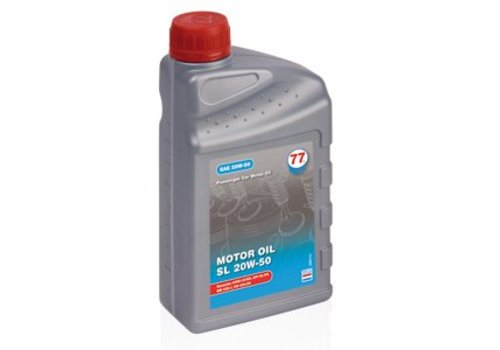 77 Lubricants Motor Oil SL 20W-50 - Motorolie, 1 lt (OUTLET)