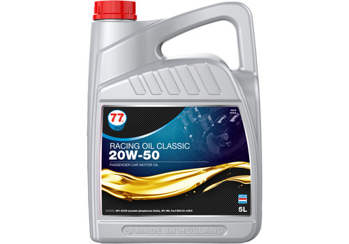 77 Lubricants Racing Oil Classic 20W-50 - Motorolie, 5 lt