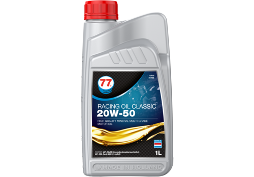 77 Lubricants Racing Oil Classic 20W-50 - Motorolie, 1 lt