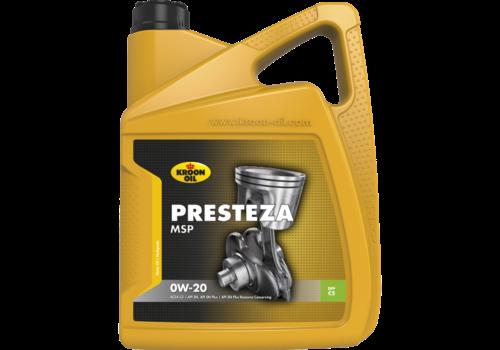 Kroon Oil Presteza MSP 0W-20 - Motorolie, 5 lt