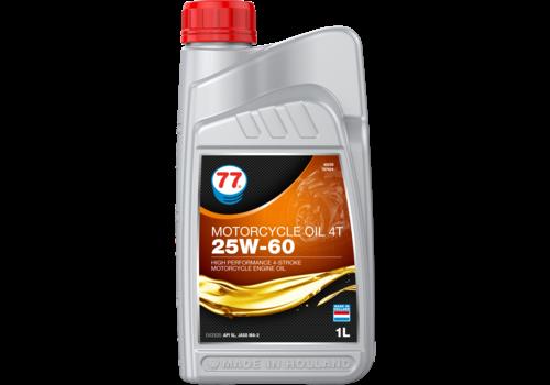 77 Lubricants Motorcycle Oil 4T 25W-60 - Motorfietsolie, 1 lt