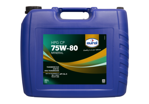 Eurol HPG 75W-80 GL5 CP - Transmissieolie, 20 lt