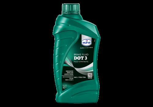 Eurol Brake Fluid DOT 3 - Remvloeistof, 1 lt