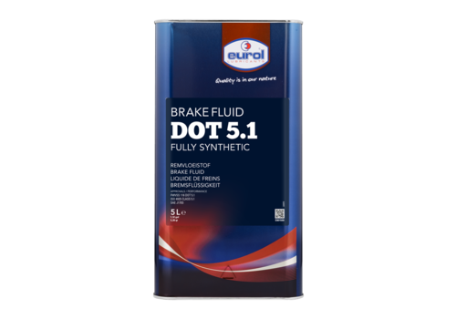 Eurol Brake Fluid DOT 5.1 - Remvloeistof, 5 lt