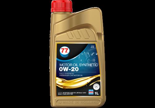 77 Lubricants Motor Oil Synthetic 0W-20 - Motorolie, 1 lt